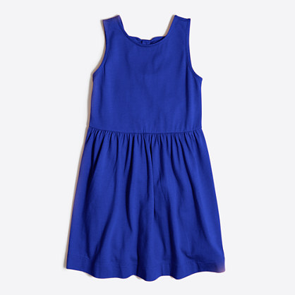 Girls' double-bowback dress