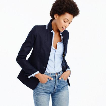 Petite Regent blazer in linen