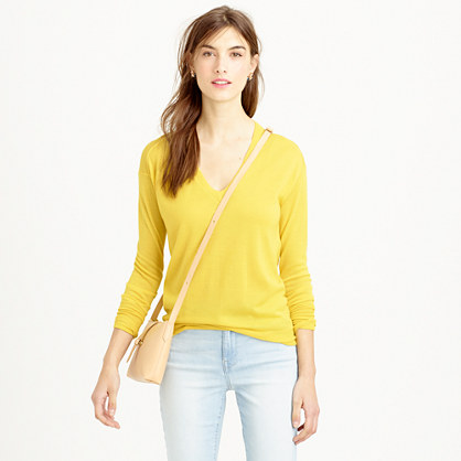 Collection featherweight cashmere V-neck boyfriend sweater