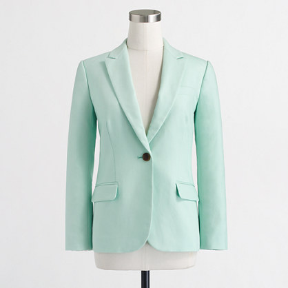 Factory cotton suiting blazer