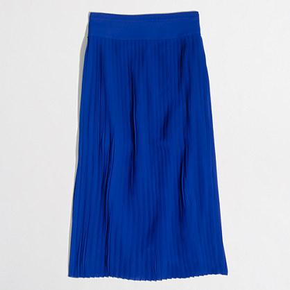 Factory petite pleated midi skirt
