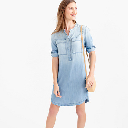 Drapey chambray shirtdress