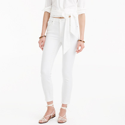 Lookout high-rise crop jean in white