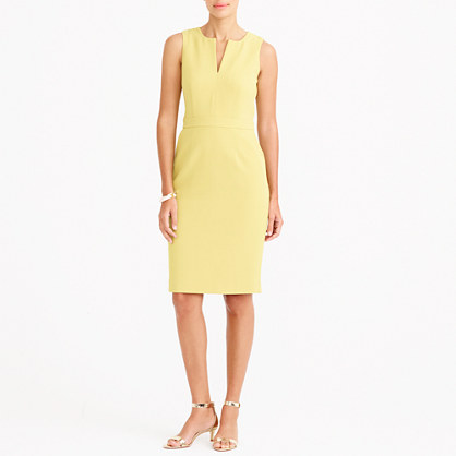 Split-neck dress