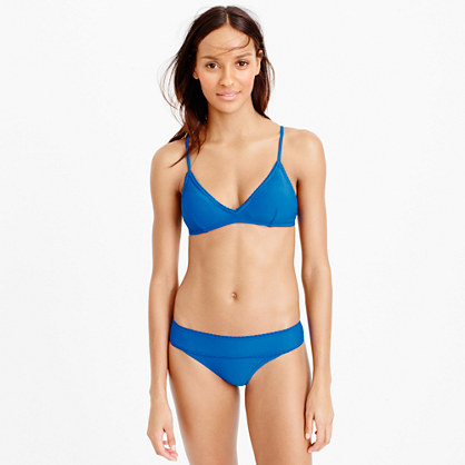 Scalloped french bikini top