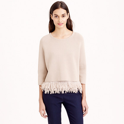 Collection chiffon fringe sweater