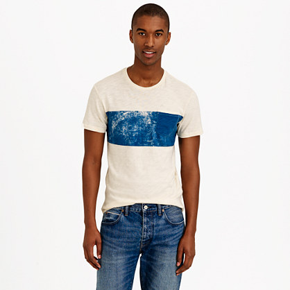 Pocket T-shirt in bar stripe