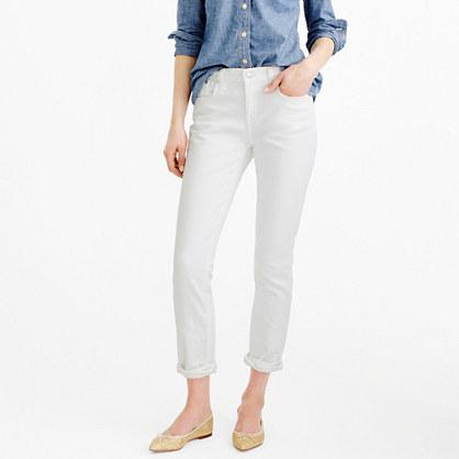 Slim broken-in boyfriend jean in white