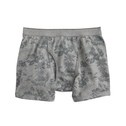 Knit boxer briefs in hawaiian print