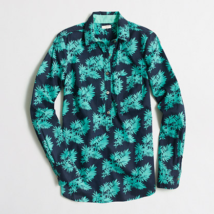 Factory printed popover shirt