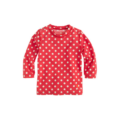 Baby rash guard in optic dot