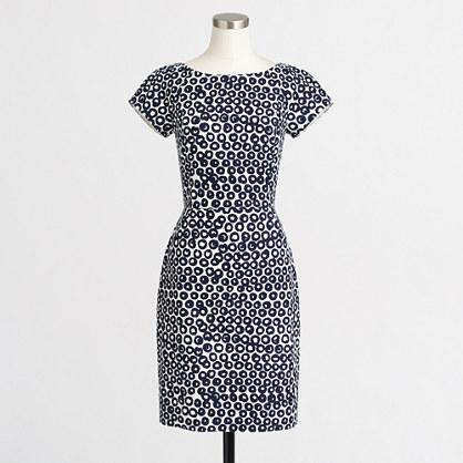 Factory short-sleeve basketweave dress