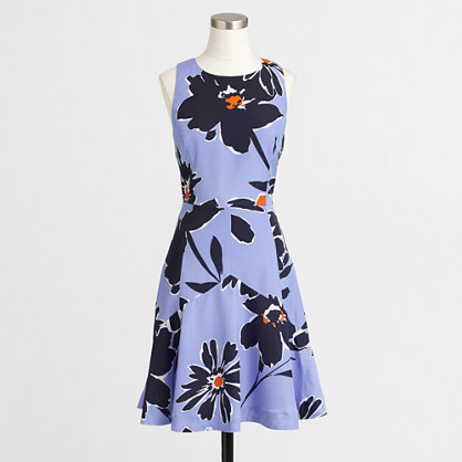 Factory floral flared dress