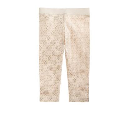 Girls' everyday capri leggings in glitter foil