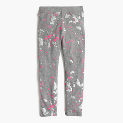 Girls' everyday leggings in splatter print