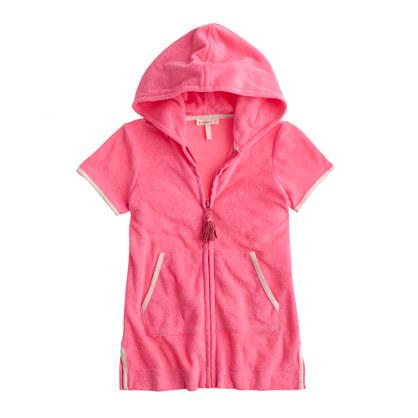 Girls' terry cotton zip hoodie