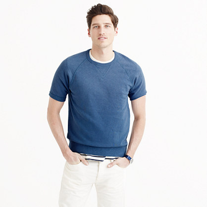 Sun-faded short-sleeve sweatshirt
