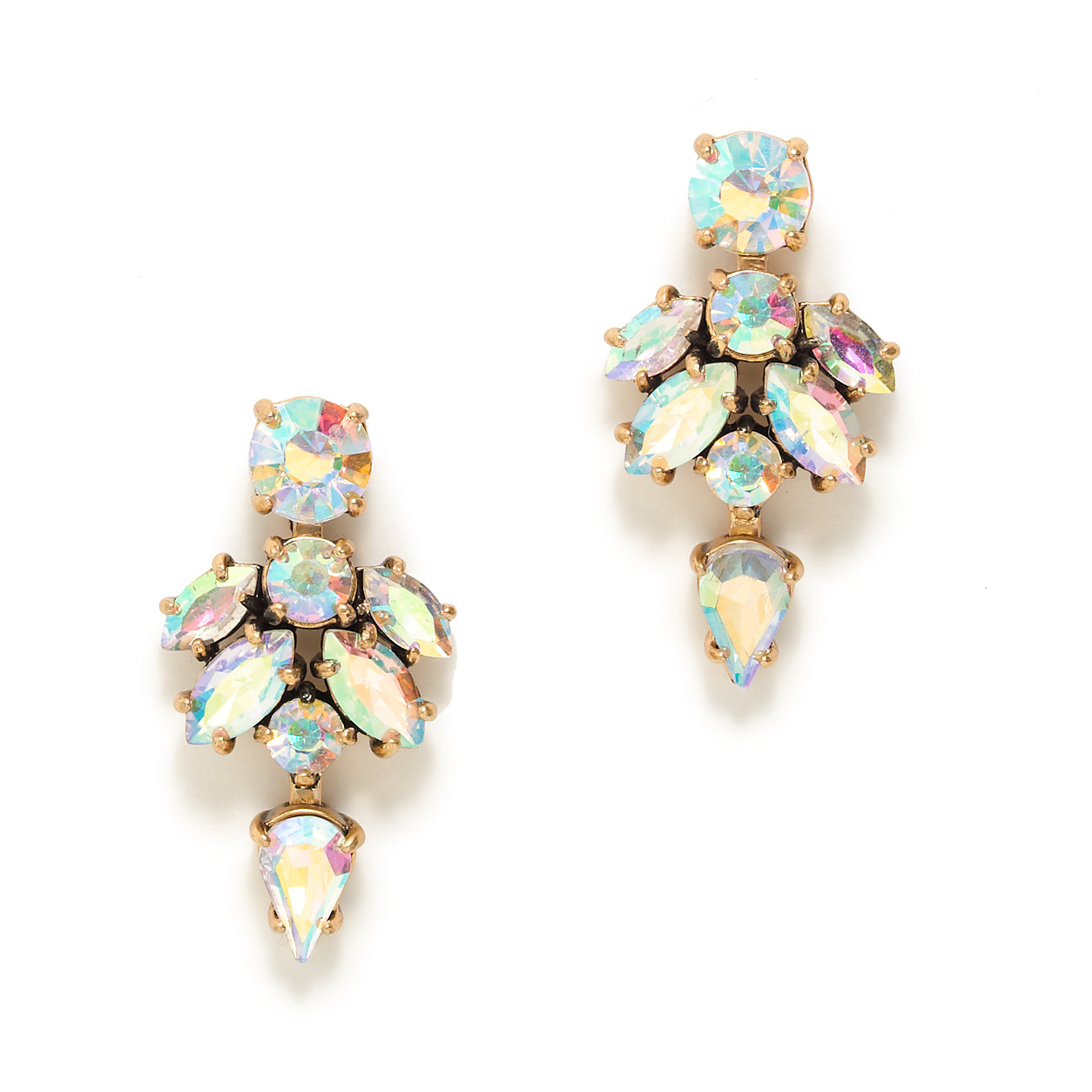 Crystal drop earrings : jewelry | J.Crew