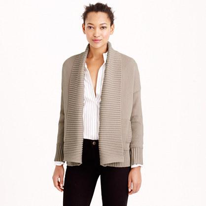 Chunky trim open cardigan sweater