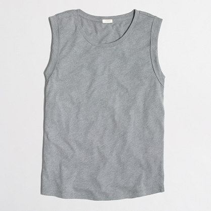 Drapey rolled-sleeve tank top