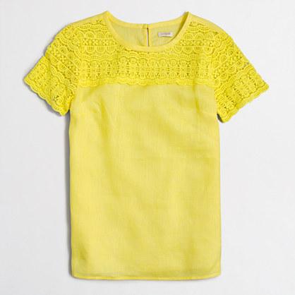 Factory linen lace t-shirt