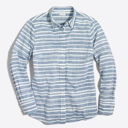 Factory striped gauze boy shirt