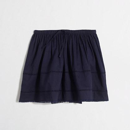 Girls' skirt with crochet details