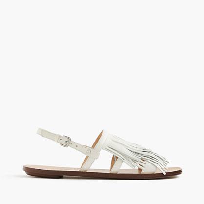 Fringe slingback sandals