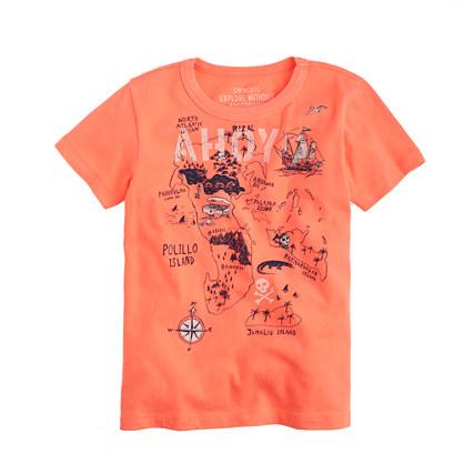 Boys' treasure map T-shirt