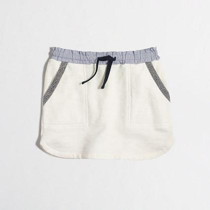 Factory girls' drawstring pocket skirt