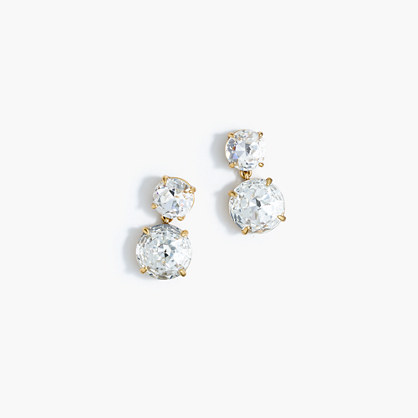 Marine crystal earrings