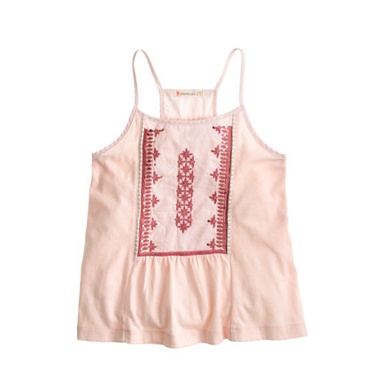 Girls' embroidered tank top