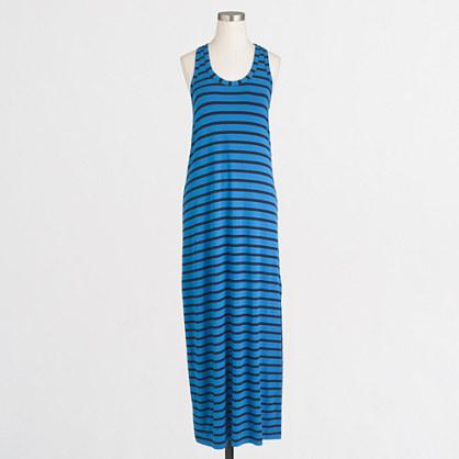 Factory knit racerback maxi dress in stripe