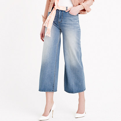 Rayner wide-leg jean in crescent wash