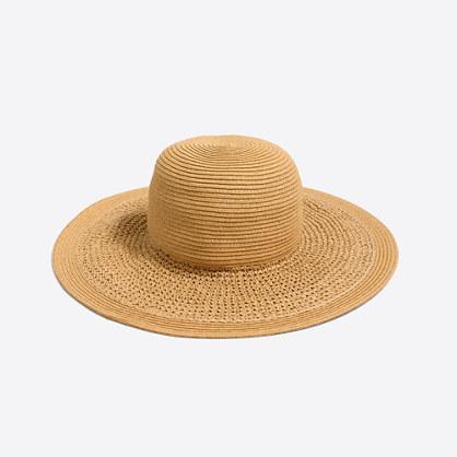 Factory textured summer straw hat