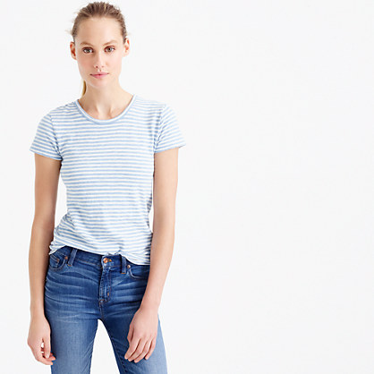 Short-sleeve painter T-shirt in stripe