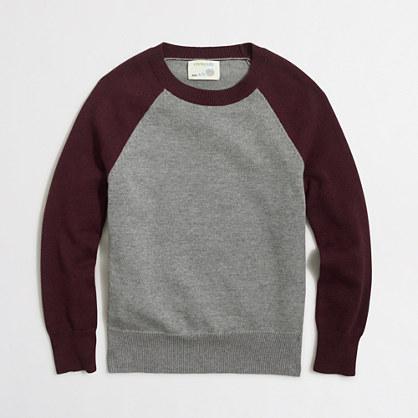 Factory boys' colorblock baseball sweater