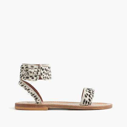"K. Jacquesâ""¢ for J.Crew calf hair Saratoga sandals"