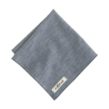 The Hill-side® selvedge indigo pocket square
