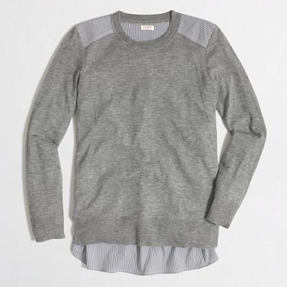 Mixed-media merino sweater