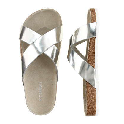 Girls' Bodie metallic sandals