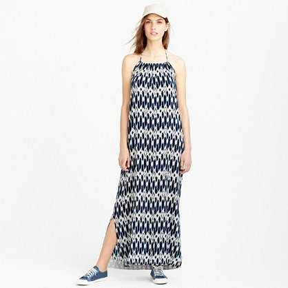 Halter beach dress in ikat