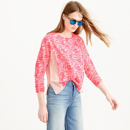 Plumeria swing sweater