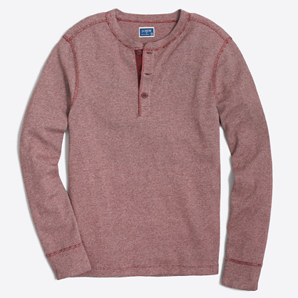Factory twisted rib henley