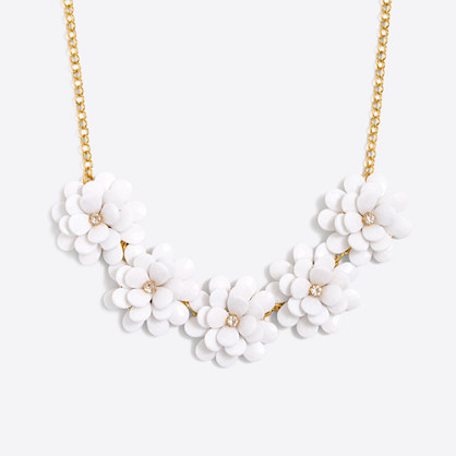 Girls' flower petal necklace