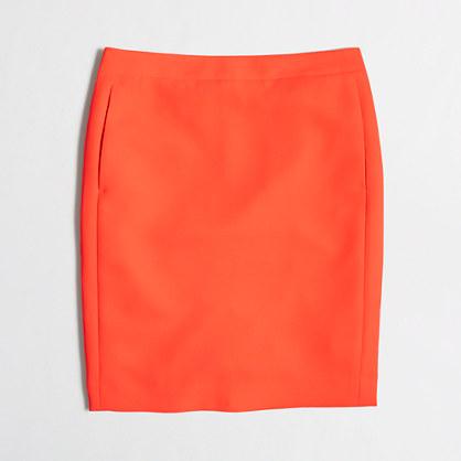 Factory petite crepe pencil skirt