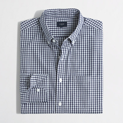 Washed shirt in mini-check