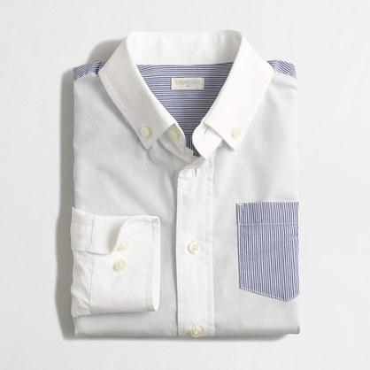 Boys' colorblock washed shirt