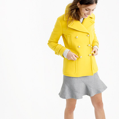 Petite stadium-cloth majesty peacoat