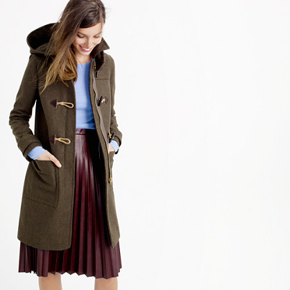 Wool melton toggle coat